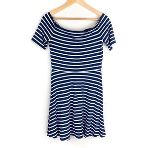 WHBM Off Shoulder Striped Dress Size Small